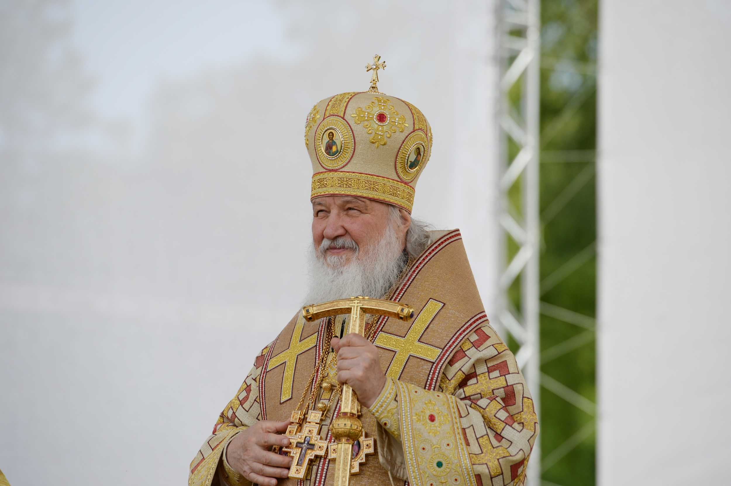 Слово Святейшего Патриарха Кирилла после Литургии на площади кафедрального собора в Череповце
